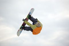 Snowboard free style. (big air stock photo