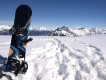 Snowboard freeride Arkivfoton