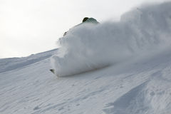 Snowboard freeride in high mountains Royalty Free Stock Photos
