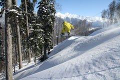 Snowboard freerider Obrazy Royalty Free