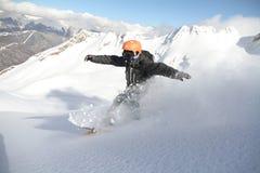 Snowboard freerider Stock Photo