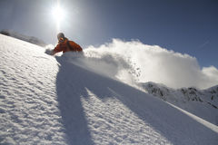Snowboard freerider Royalty Free Stock Image
