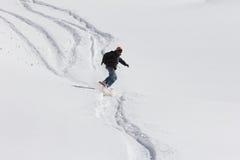 Snowboard freerider Royalty Free Stock Image