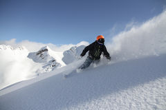 Snowboard freerider Royalty Free Stock Images