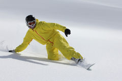 Snowboard freerider Stock Photo