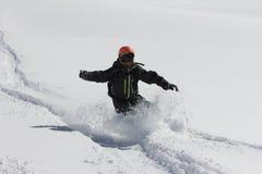 Snowboard freerider Stock Photos