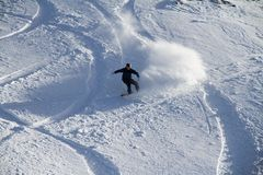 Snowboard freerider in the mountains Stock Photos