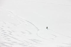 Snowboard freeriding in Alps. Extreme winter sports Stock Image