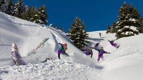 Snowboard fun Stock Images