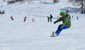 Snowboard geben Art frei Lizenzfreies Stockbild
