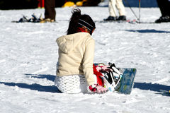 Snowboard girl Stock Photography