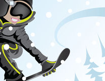Snowboard Girl Royalty Free Stock Image