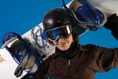 Snowboard girl Royalty Free Stock Images