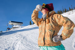 Snowboard  girl Royalty Free Stock Photos