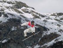 Snowboard grande do ar do copo de mundo Fotografia de Stock