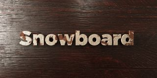 Snowboard - grungy wooden headline on Maple  - 3D rendered royalty free stock image Royalty Free Stock Photos