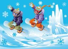 Snowboard insieme. Fotografia Stock