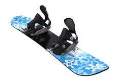 Snowboard isolato su bianco Fotografie Stock