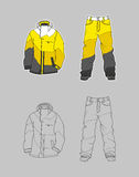 Snowboard jacket Royalty Free Stock Images