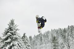 Snowboard jump Stock Photos