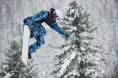 Snowboard jump Stock Photography