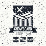 Snowboard junior team emblem Stock Photo