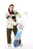 snowboard kobieta Zdjęcie Stock