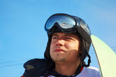 Snowboard man portrait Royalty Free Stock Photography