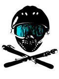 Snowboard_mask 3 Royalty-vrije Stock Foto