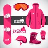 snowboard materiaal Stock Afbeelding