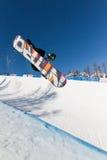 Snowboard mezzo del tubo Fotografia Stock Libera da Diritti