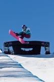 Snowboard mezzo del tubo Immagine Stock Libera da Diritti