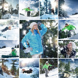 Snowboard mix Stock Photography