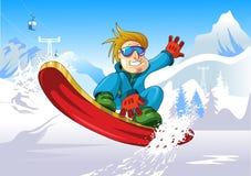 Snowboard para arriba Foto de archivo libre de regalías
