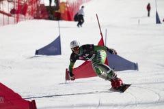 Snowboard parallel giant slalom Royalty Free Stock Image