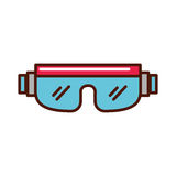 Snowboard protective glasses cartoon. Vector graphic design Royalty Free Stock Photography