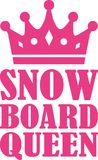 Snowboard queen. Vector sports icon Stock Image