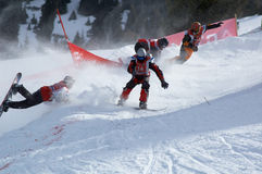 Snowboard race Stock Photography