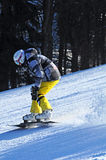Snowboard racer Royalty Free Stock Photos