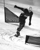 Snowboard racer Royalty Free Stock Image