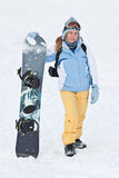 Snowboard ride. Royalty Free Stock Images