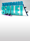 Snowboard sale background Royalty Free Stock Photography