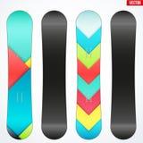 Snowboard sample symbols for design. Vector Royalty Free Stock Image