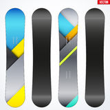 Snowboard sample symbols for design. Vector Royalty Free Stock Images