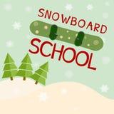 Snowboard school logo template. Vector Stock Photos