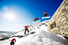 Snowboard sequence Royalty Free Stock Photography