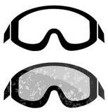 Snowboard ski goggles. Winter sports element isolated on white Stock Photos