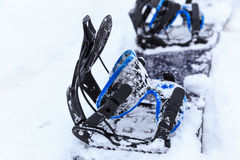Snowboard in the snow Royalty Free Stock Images