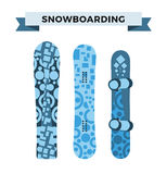 Snowboard sport clothes and tools elements Stock Images