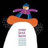 Snowboard teen postcard Stock Image